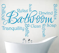 bathroom wall stickers with relaxing phrases art bathroom phrases wall art sticker