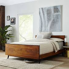 Lars MidCentury Bed West Elm - West elm mid century bedroom furniture