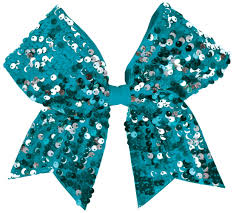 sequin ribbon chassé dangle sequin performance hair bow omni cheer