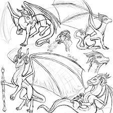 dragon sketch dump by inkrose98 on deviantart
