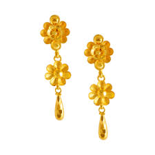 earrings gold gold earrings online gold earrings for women p c chandra jewellers