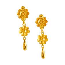 ear ring image gold earrings online gold earrings for women p c chandra