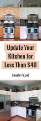 how to paint your kitchen cabinets and it costs less than 40