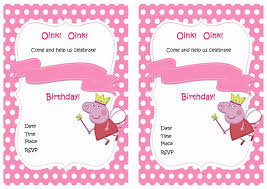 Barbie Themed Invitation Card Peppa Pig Birthday Invitations U2013 Birthday Printable