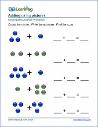 free preschool u0026 kindergarten addition worksheets printable k5