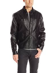 mens leather moto jacket kenneth cole new york men u0027s faux leather moto jacket at amazon