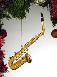 gifts horns saxophone ornament