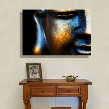 aliexpress com buy oil painting canvas copper buddha wall art