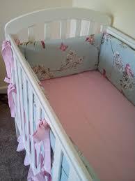 Duck Crib Bedding Set Vintage Bird Design Duck Egg Blue Cot Bedding Set 4 Sided All The