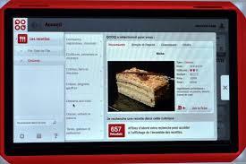 tablette de cuisine qooq qooq tablet la cuisine tactile et facile abricocotier fr