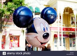 mickey mouse balloons in disneyland paris stock photo royalty