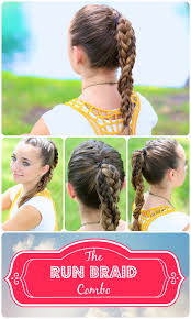 hair styles for a run the run braid combo hairstyles for sports cute girls hairstyles
