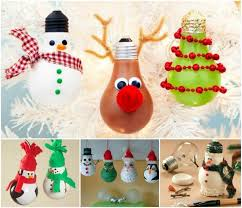 ideas diy light bulb ornaments