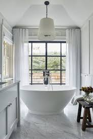 this dreamy bathroom remodel idea is a must in summer homes neutral master bath with floating tub