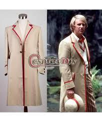 Mens Doctor Halloween Costume Custom Men U0027s Doctor 5th Beige Trench Coat