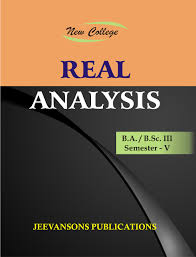 buy new college real analysis for b a b sc iii v sem book online