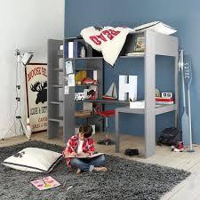 lit sur lev bureau lit mezzanine gris gracieux lit sur lev bureau mezzanine gris maxens
