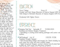 Resume Qualities Resume Graphic Design Resume Template Example Free Modern