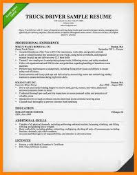 truck driver resume sample 8 sample truck driver resume writing a memo