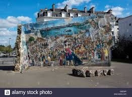 street wall painting mural on old ruin nantes france stock photo stock photo street wall painting mural on old ruin nantes france