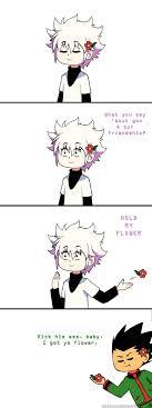 Hold My Flower Meme - hxh hold my flower meme by xxlovelyrose95xx on deviantart