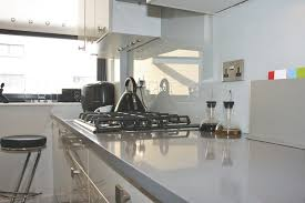 small white galley kitchen