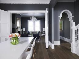 dark gray paint colors transitional dining room muralo paint