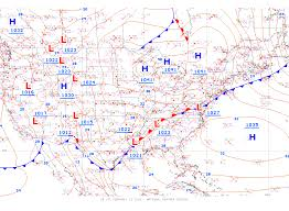 Continental Us Map Unified Surface Analysis