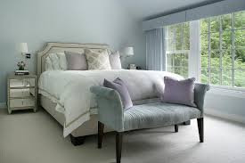 Gray Bedroom Bench Blue Velvet Roll Arm Bedroom Bench Design Ideas