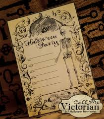 free printable halloween party invitations call me victorian