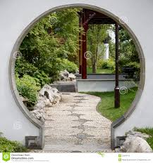gate to japanese garden royalty free stock photo image 32428145