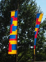 Red Blue Yellow Flag Free Images Wind Red Flag Blue Colorful Yellow Totem Pole