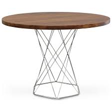 Cavalletto Ikea by Round Strip Wood Dining Table On Stainless By Dorothymacikdesign