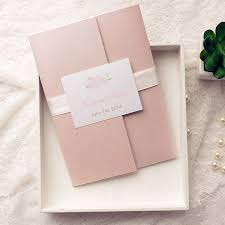 diy wedding invitation kits cheap pink flower pocket wedding invitation kits ewpi142 as