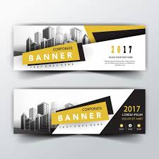 banner design jpg yellow and black back and front banner templates vector free download