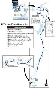 Mayfair Mall Map Bc Transit Route 11 Terrace Kitimat Connector Skeena Regional