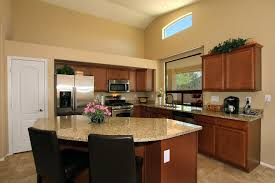 Kitchen Marble Top Decoration Ideas Attractive White Marble Top In Dark Brown Walnut