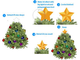 create a beautiful christmas tree icon in photoshop
