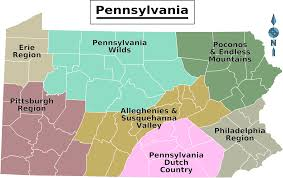 Pennsylvania Map With Cities And Towns by Pennsylvania Regions Map U2022 Mapsof Net