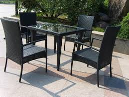 Patio High Top Table Dining Tables Black Square Modern Rattan Patio Furniture Table