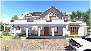 modern style sloped roof house 4000 sq ft kerala home design