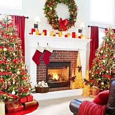 fireplace christmas decorations pictures part 45 elegant
