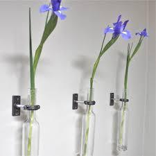 Modern Flower Vase Wine Bottle Wall Flower Vase Wall Vase Modern Wall Decor Vase Wall