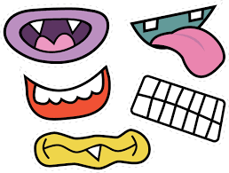monster eyes and mouth clipart black and white free free monster