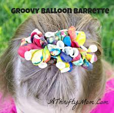 kids crafts diy balloon barrettes money saving crafts