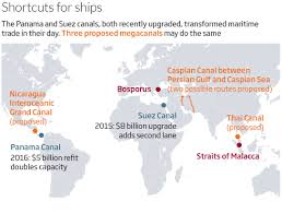 Where Is Central America Located On The World Map by Mega Canals Could Slice Through Continents For Giant Ships New