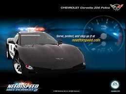 police corvette chevrolet corvette z06 police need for speed pursuit 2