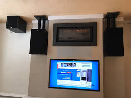 tv over gas fireplace and av system thornwood fireplaces