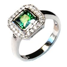 emerald silver rings images Princess cut emerald green promise ring beautiful promise rings png