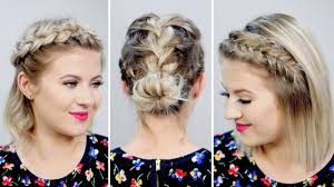 3 gorgeous spring braided short hairstyles milabu youtube